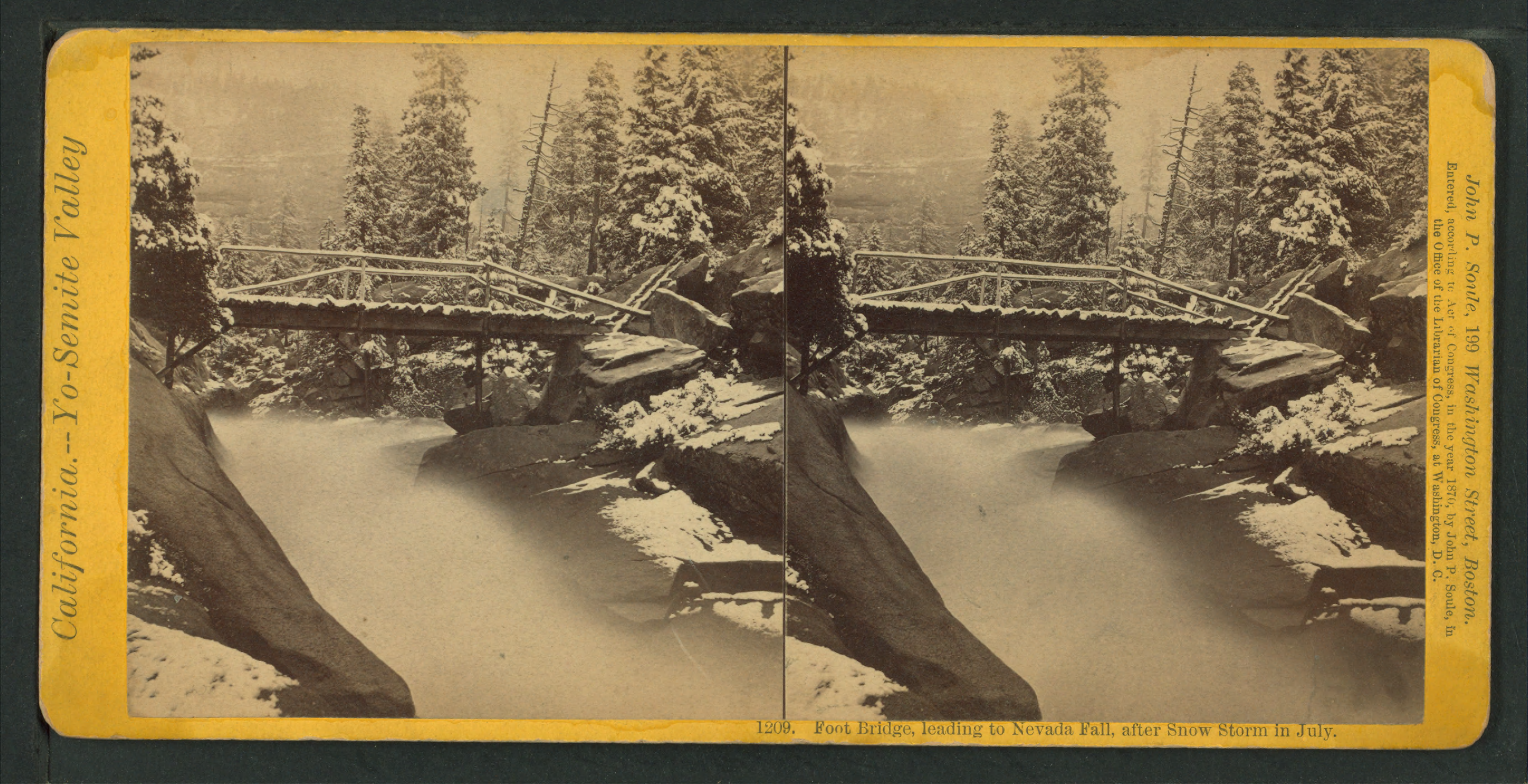 Nevada Fall Png - File:Foot bridge, leading to Nevada Fall, after snow storm in July ...