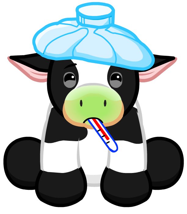 Sick Png - File:Holstein Cow Sick.png