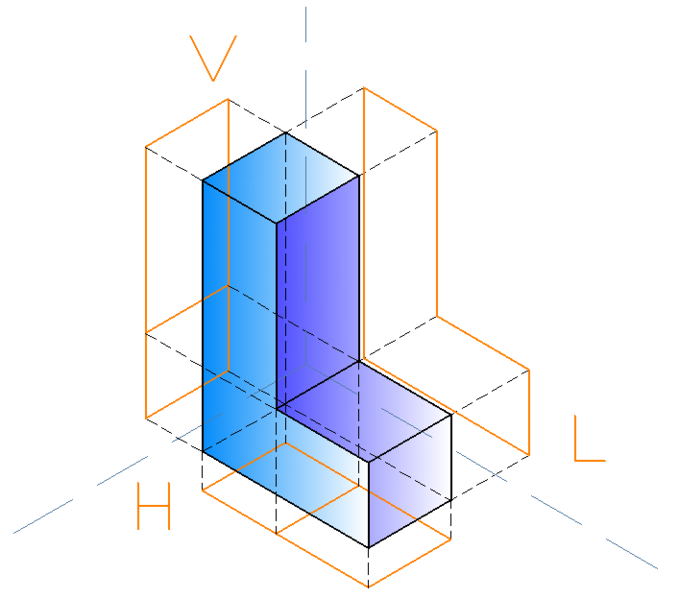 Isometric Projection Png - File:Isometric projections of an l shape.png - Wikimedia Commons