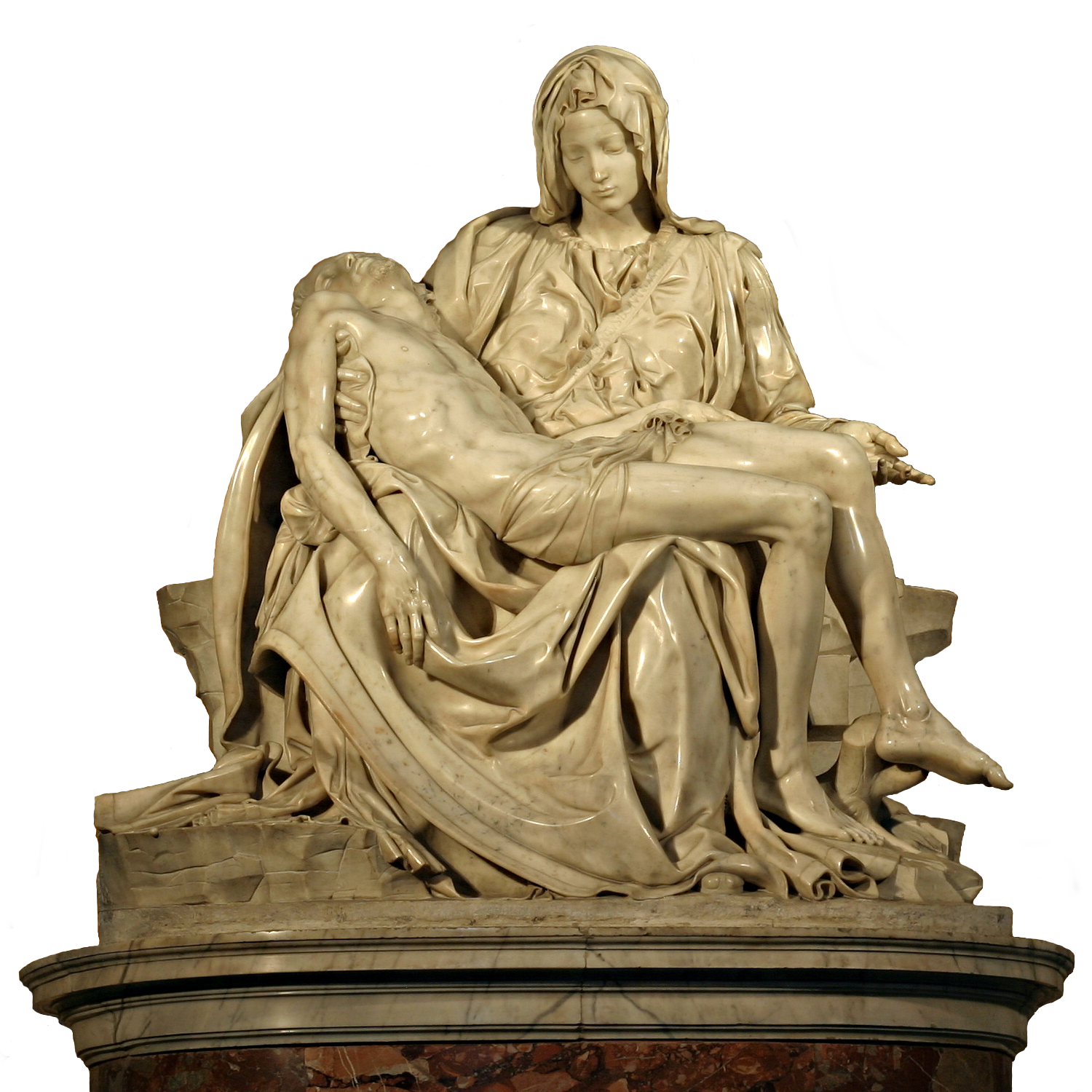 Michelangelo Png - File:Michelangelo's Pieta 5450 cut out.png - Wikimedia Commons