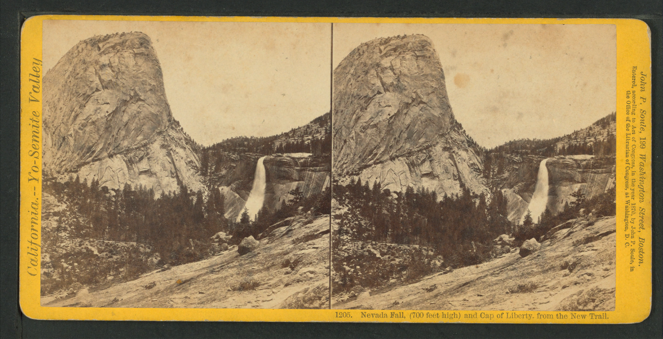 Nevada Fall Png - File:Nevada Fall, (700 feet high) and Cap of Liberty from the New ...