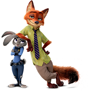 Png Zootopia - File:Nick and Judy Armrest.png