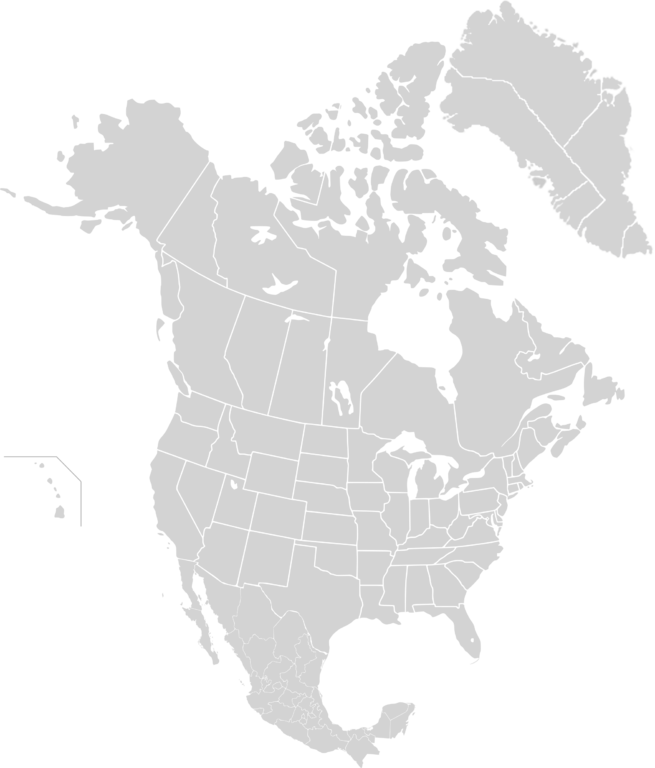 North America Map Png - File:North America subnational division map.png