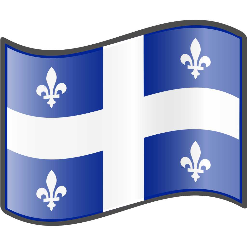 Flag Of Quebec Png - File:Nuvola Quebec flag.svg - Wikimedia Commons