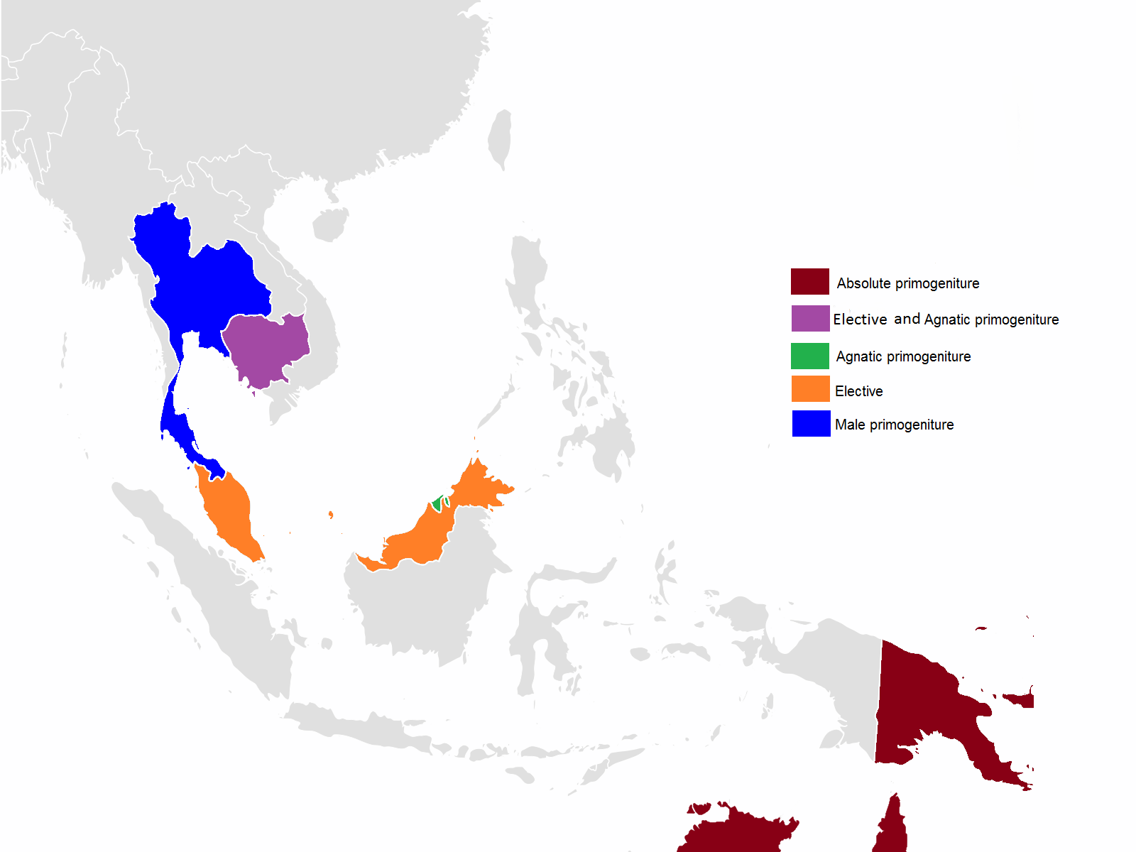 Southeast Asia Png - File:Order of succession (Primogeniture) in Southeast Asia ...