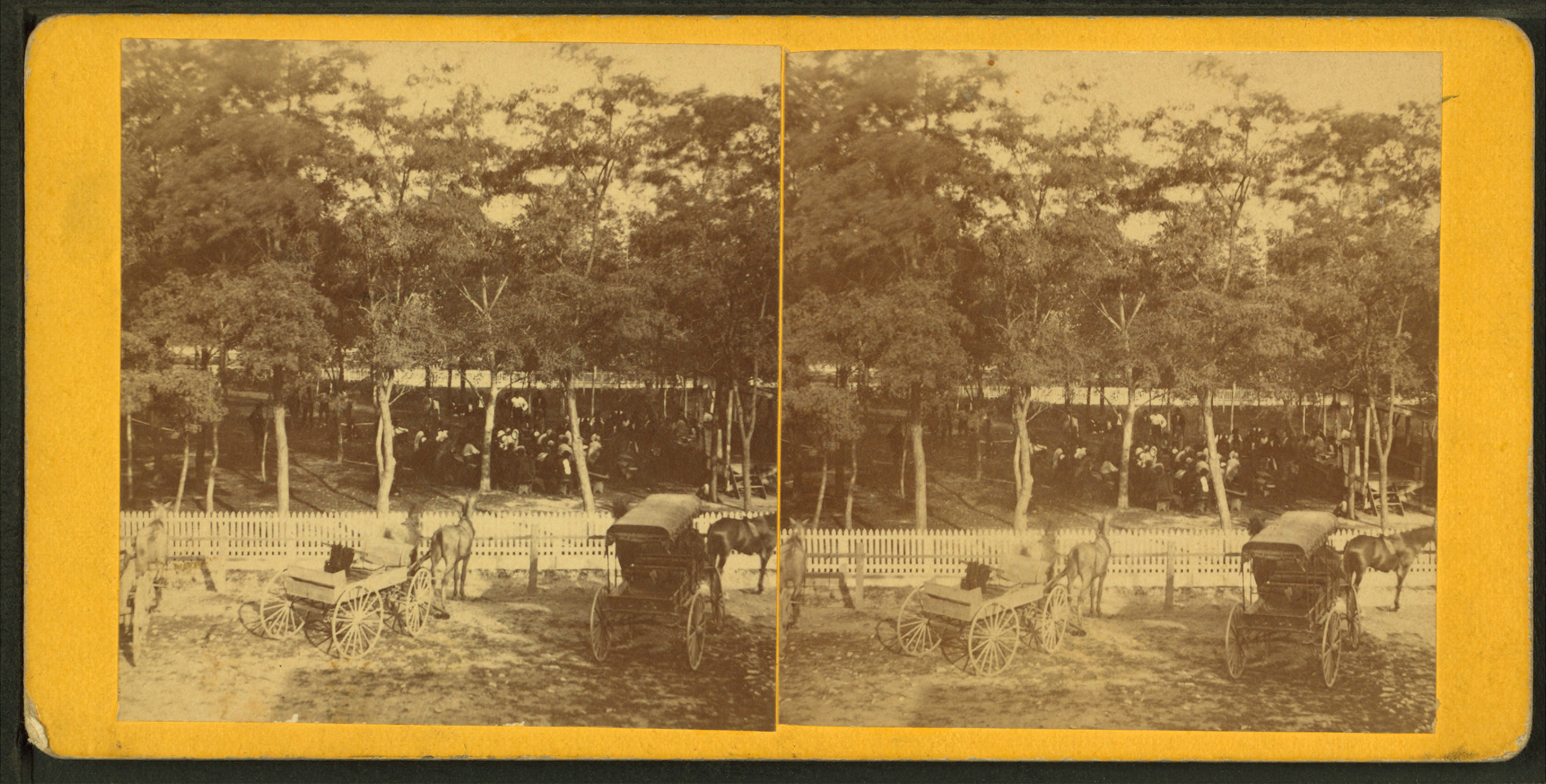Orange Png Of People At A Park - File:People gathered at a park, wagons and buggies near picket ...