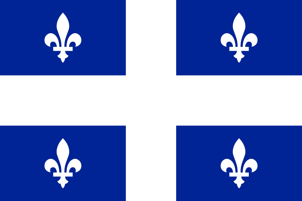 Flag Of Quebec Png - File:Quebec flag.png - Wikimedia Commons