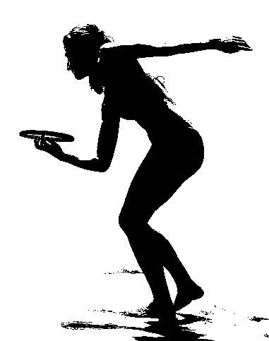 Frisbee Png Black And White - File:Silhouetted frisbee player.png - Wikimedia Commons