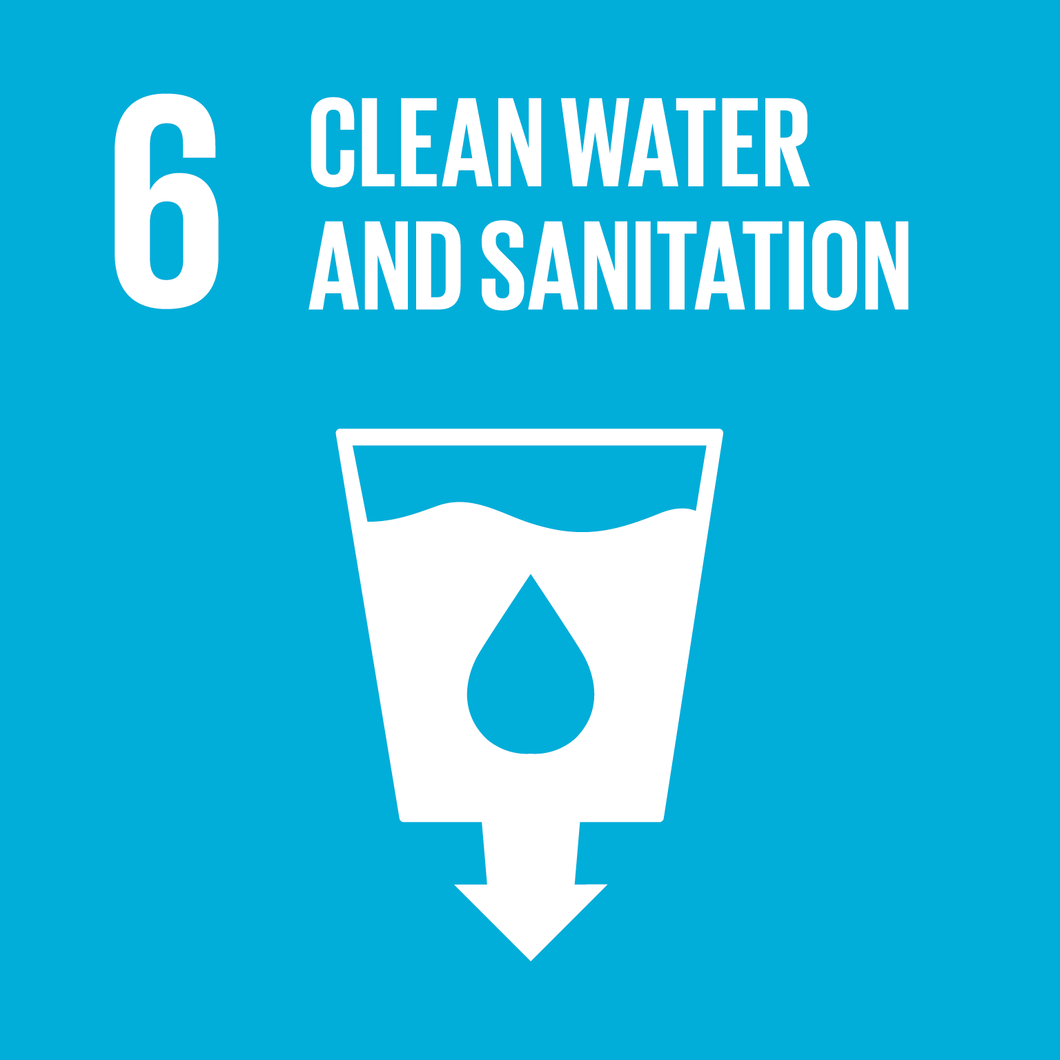 Sustainable Development Goal 6 Png - File:Sustainable Development Goal 6.png - Wikimedia Commons