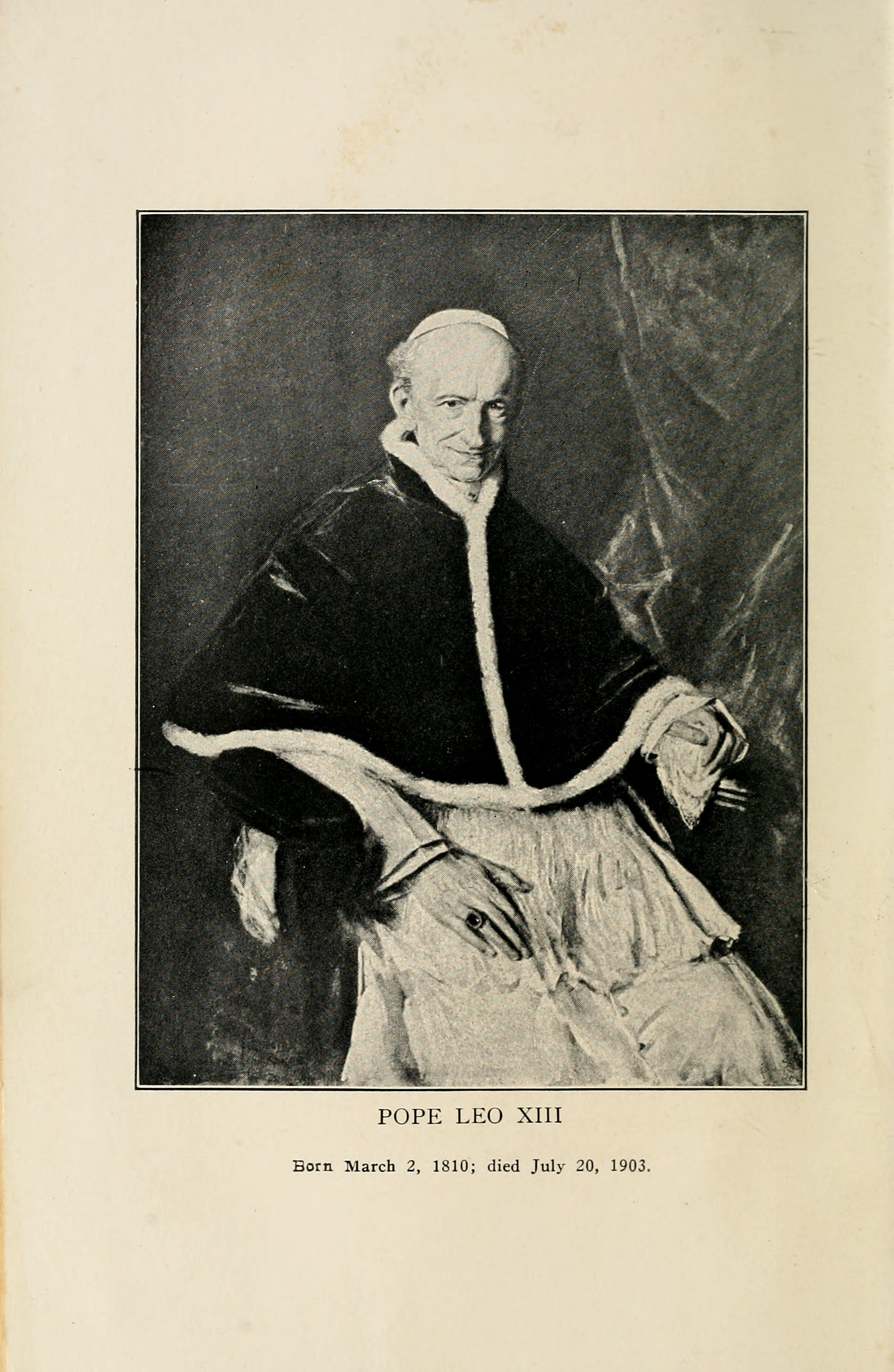 Pope Leo Xiii Png - File:The Great Encyclical Letters of Pope Leo XIII.djvu-6.png ...