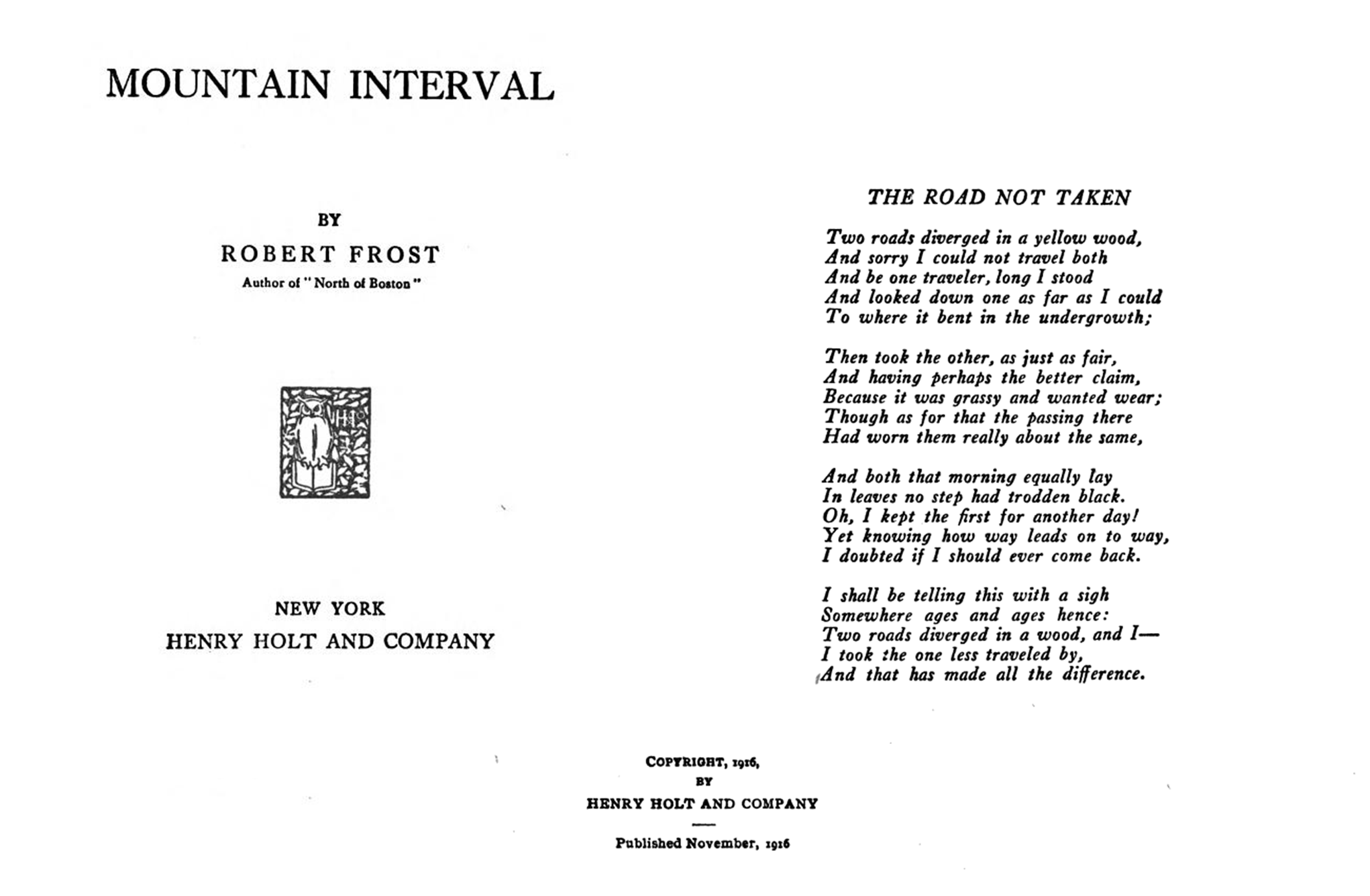 Road Diverging Image Black And White Png - File:The Road Not Taken - Robert Frost.png - Wikipedia