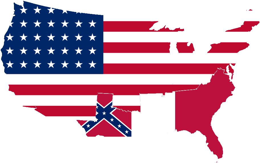 Confederate Png - File:United and Confederate States.png - Wikimedia Commons