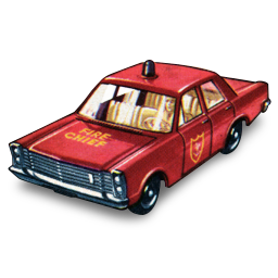2 Matchbox Cars Png - Fire Chief Car Icon | 1960 Matchbox Cars Iconset | Bart Kowalski