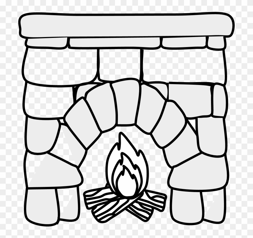 Fireplace Drawing Png - Fireplace Clipartshare Mantel Black - Png Download (#2826309 ...