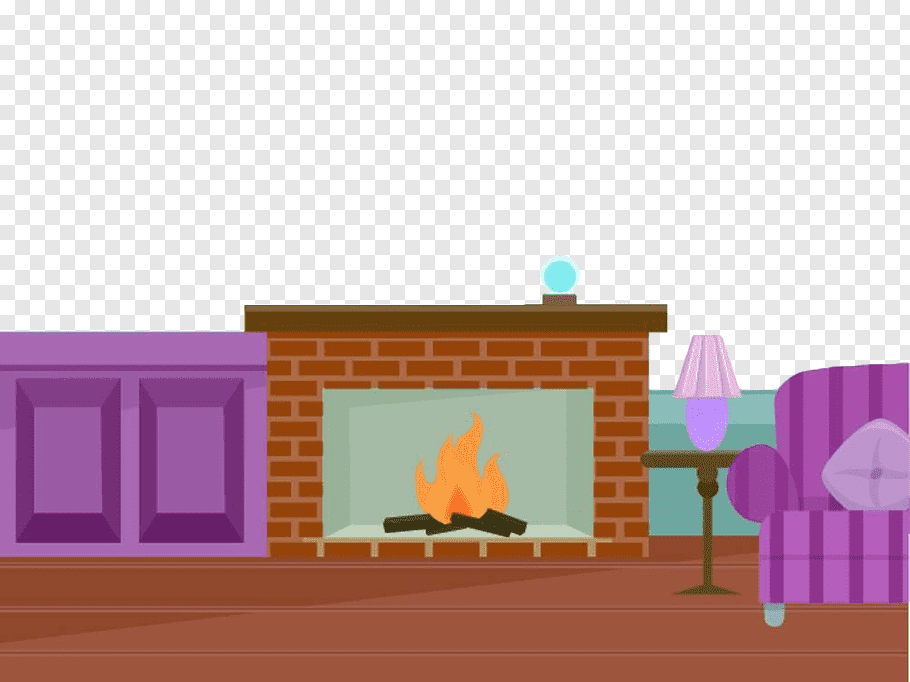 Living Room With Fireplace Png - Fireplace Drawing Living room, Hand painted flat fireplace PNG ...