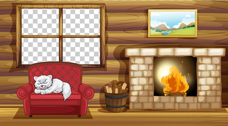 Living Room With Fireplace Png - Fireplace Living room Stock photography, Cartoon warm winter ...