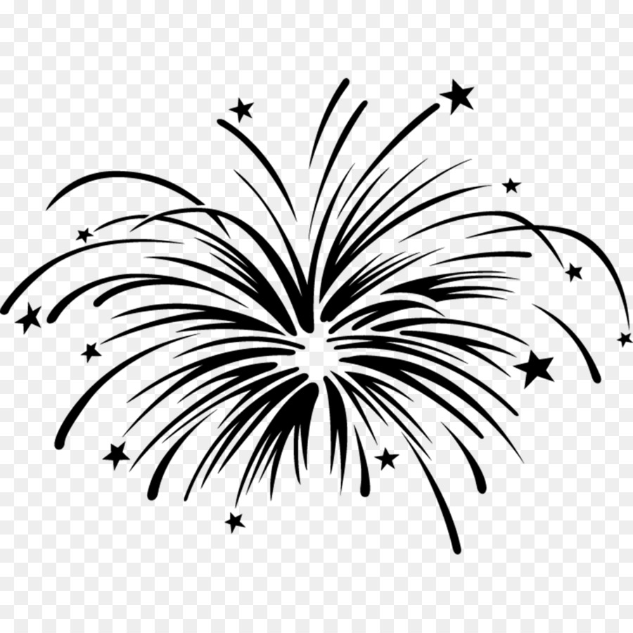 Firework black. Png and white free