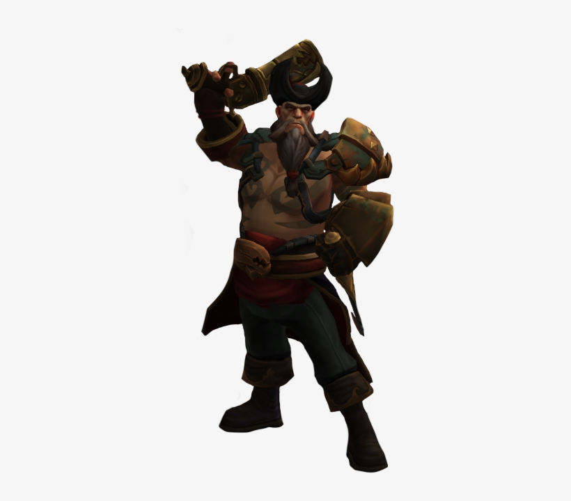 League Of Legends Gangplank Png - First Visual Update - Gangplank League Of Legends Png - Free ...