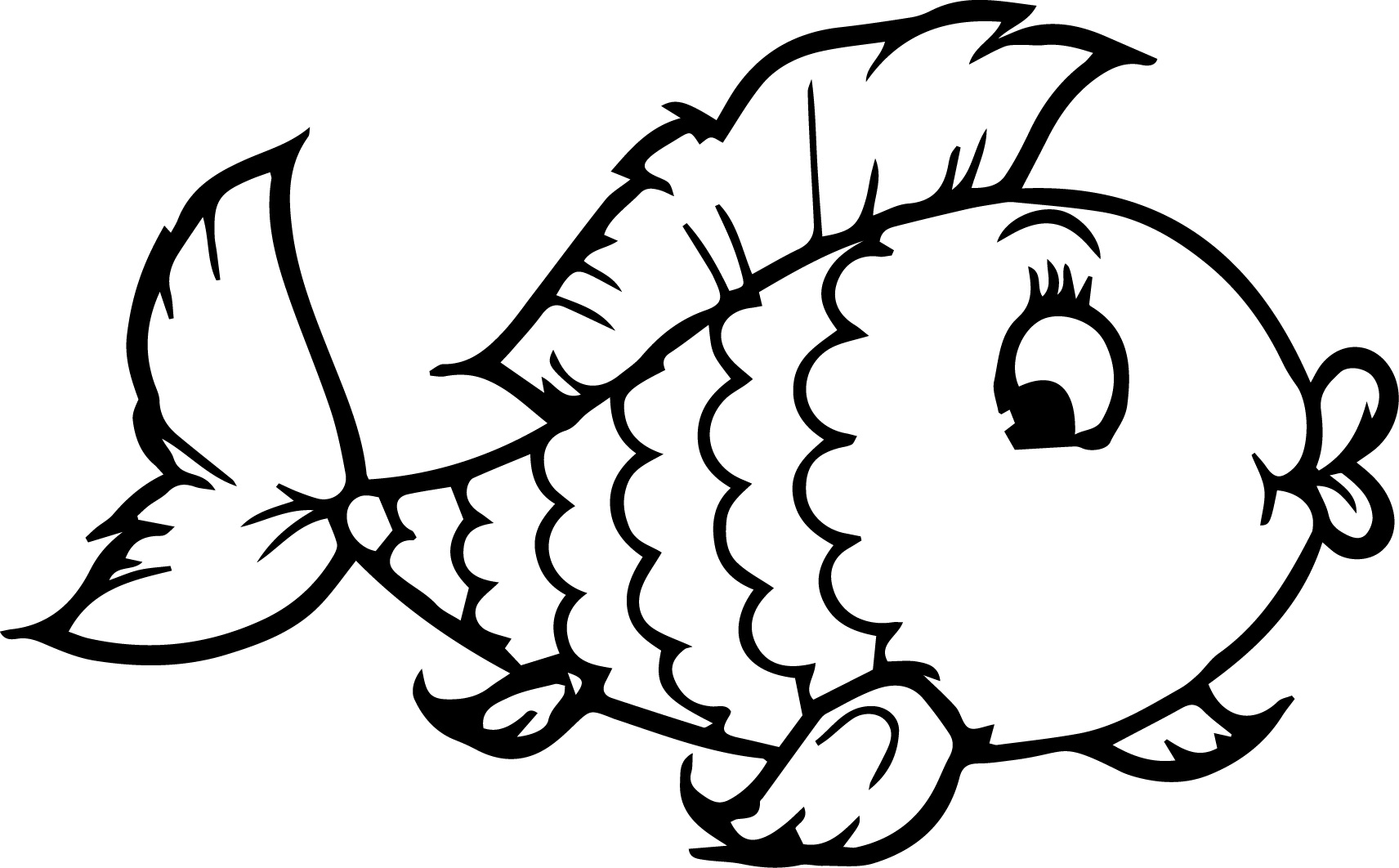 Fish Coloring Pages 2 | Coloring Pages To Print | Fish coloring ... | 1062x1712