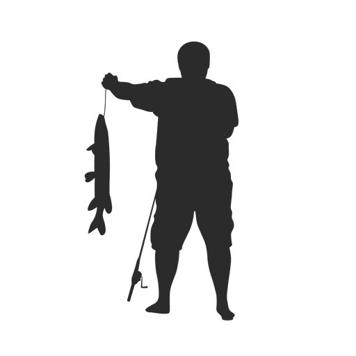 Fishing Silhouette Png - Fishing fisherman silhouette - Transparent PNG & SVG vector