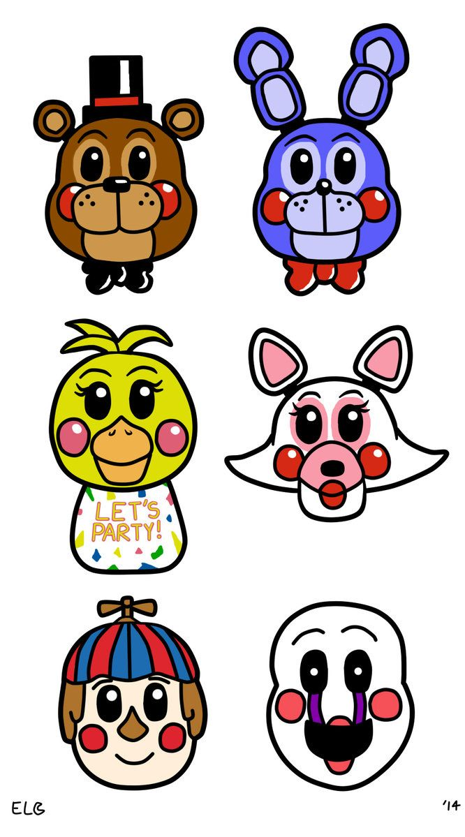 Fnaf Clipart - Five Nights at Freddy's 2 | Colored clipart/images | Five night ...