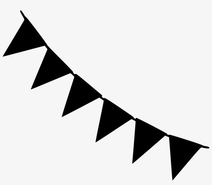 Pennant Banner Svg Png - Flag Party Decorator Svg Png Icon Free Download - Black And White ...