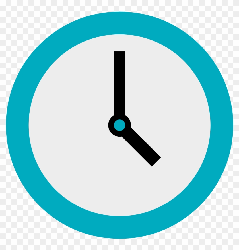 Clock İcon Png - Flat Clock Icon Png - Clock Icon, Transparent Png (#491478) - PikPng