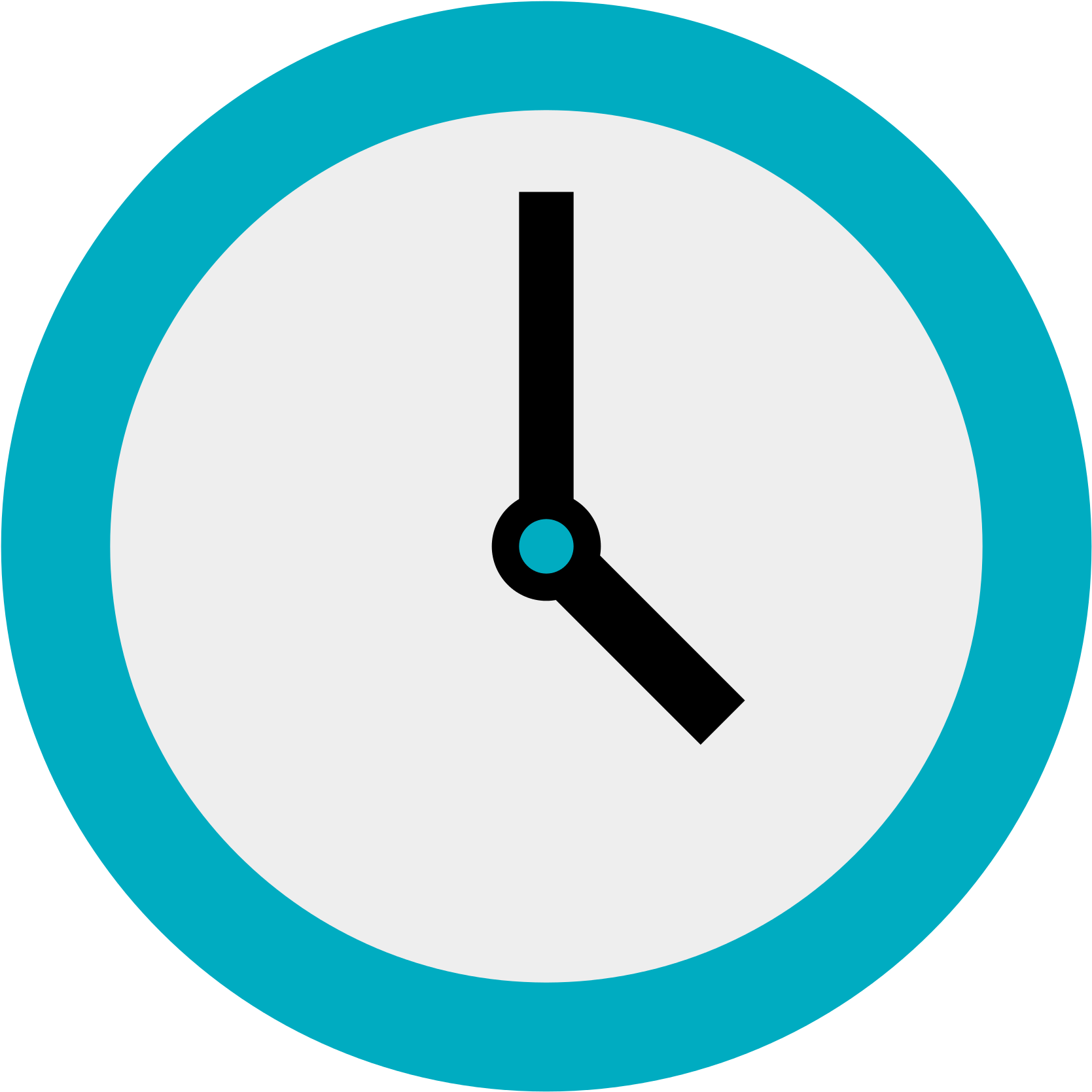 Clock İcon Png - Flat Clock Icon Png - Clock Icon, Transparent Png - Large Size Png ...