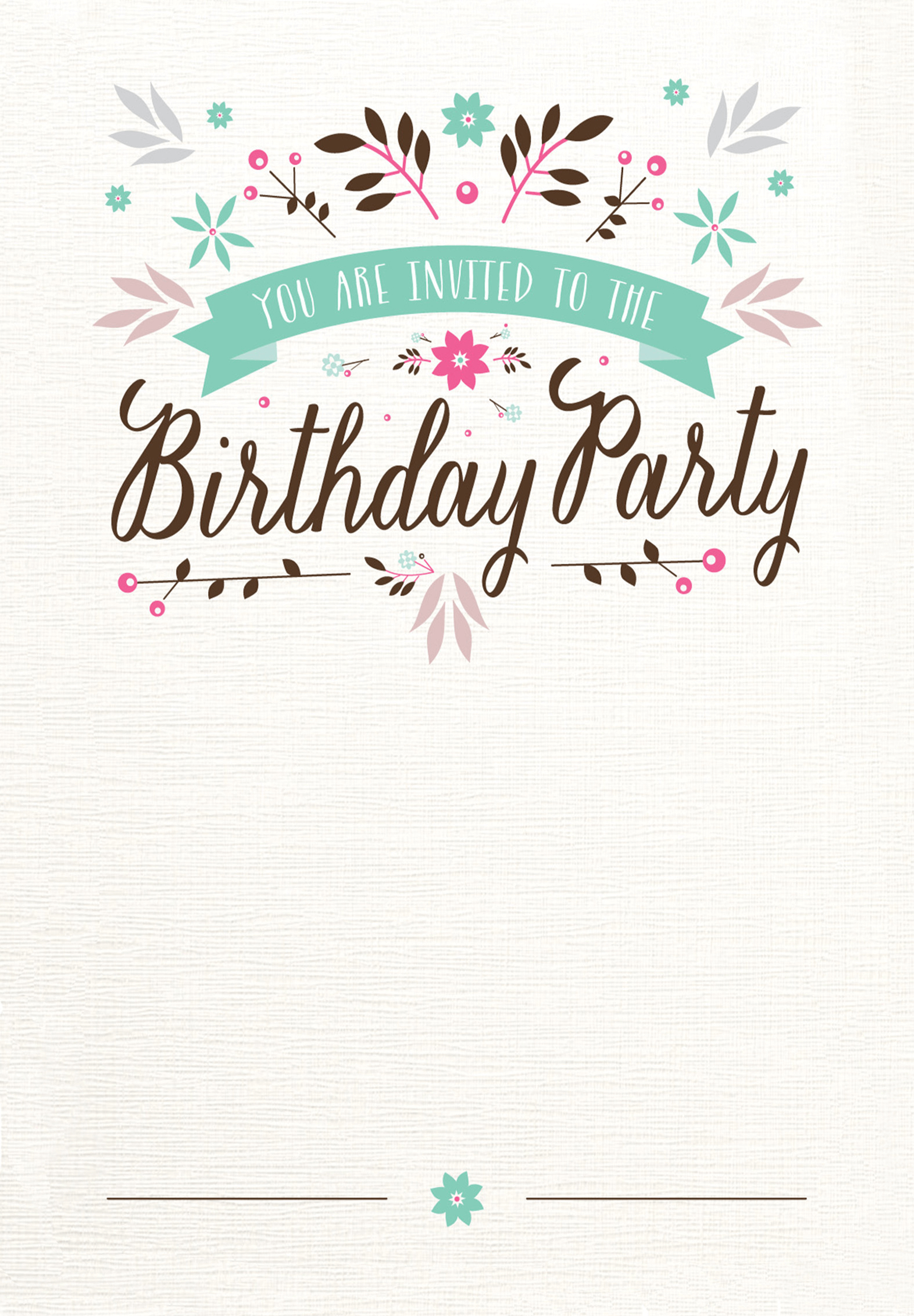 Background Design For 18th Birthday Invitation Card