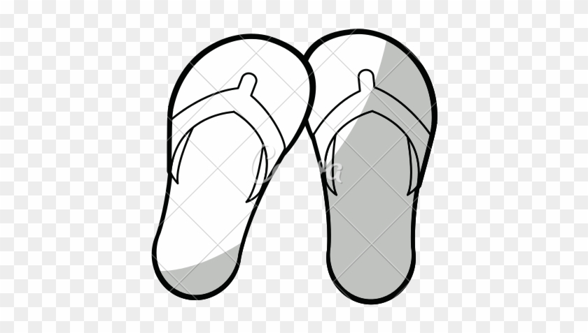 aa8129470d93 Black And White Flip Flops Png   Free Black And White Flip Flops.png ...
