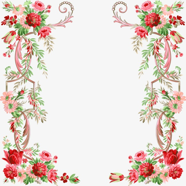 Floral Border Design Graphic Design Fl 18948 Png Images Pngio