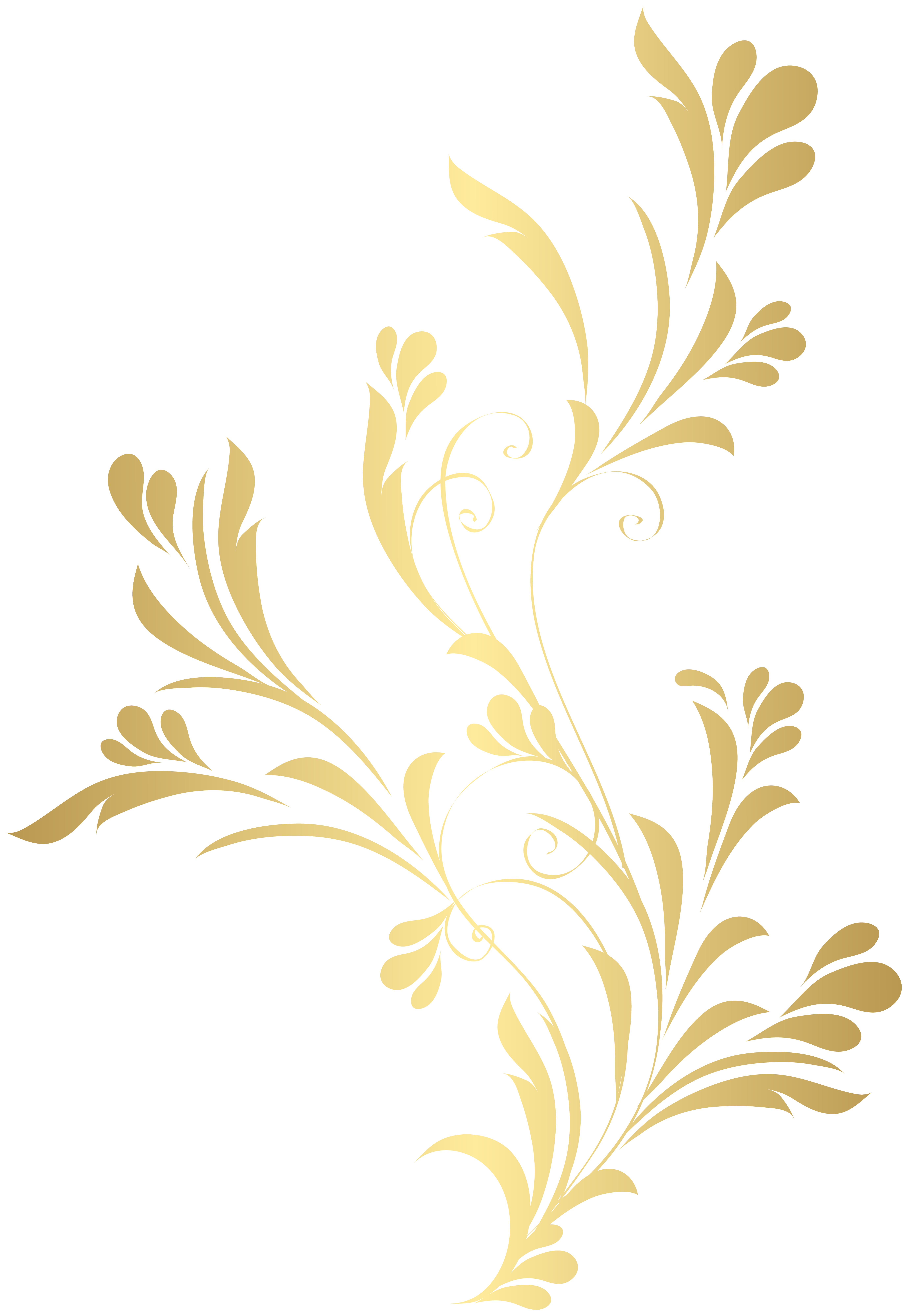 Gold Floral Png - Floral Gold Element PNG Clip Art | Gallery Yopriceville - High ...