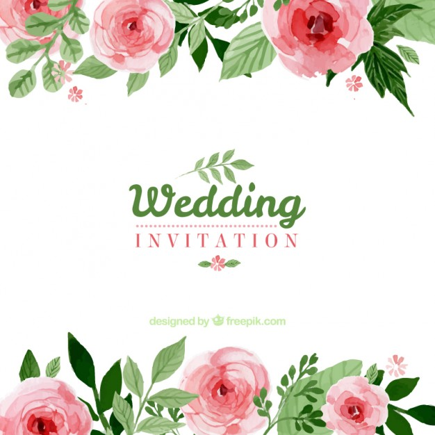 Floral Wedding Invitation Vector Free 1156971 Png Images Pngio