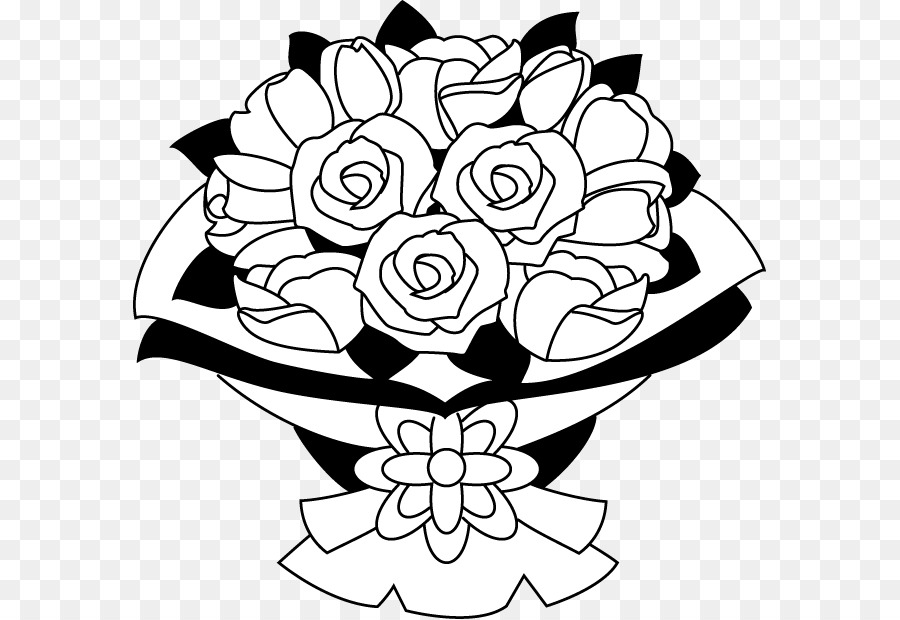 Black And White Flower Bouquet Png Transparent Images 8467 Pngio