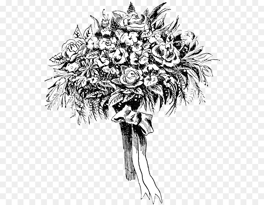 Flower Bouquet Drawing 63734 Png Images Pngio