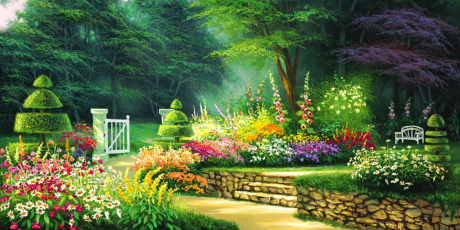 Flower Garden Background Hd Images For P 1134754 Png Images Pngio
