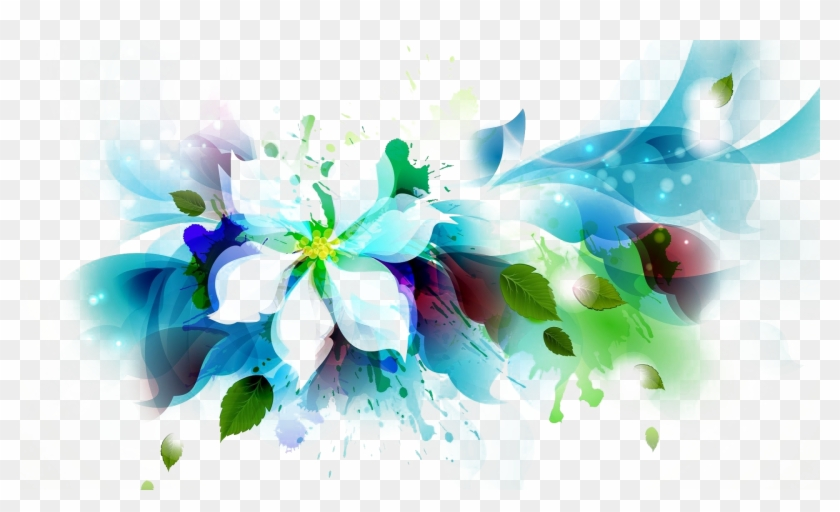 Blue Abstract Flowers Png - Flower Images Png Arts Transparent Background - Abstract Flowers ...