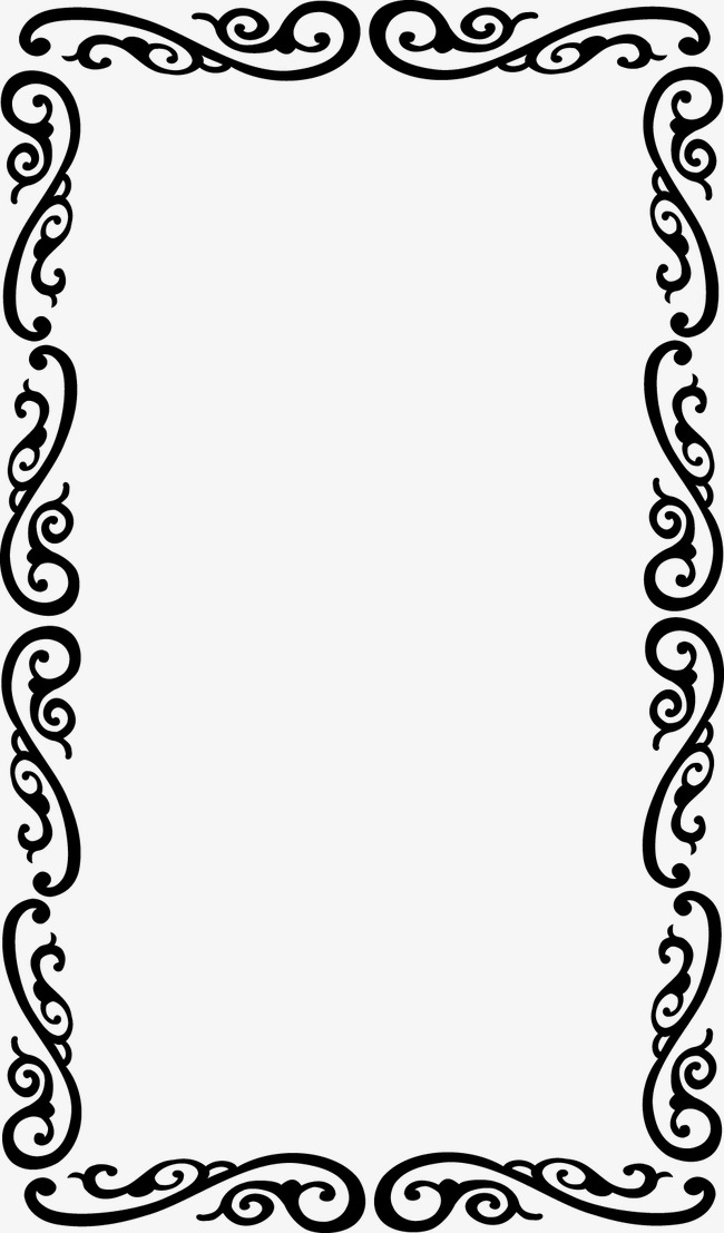 Flower Border Png Black And White & Free Flower Border ...