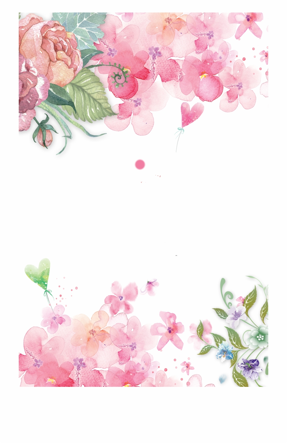 Background Pictures Flowers Png - Flowers Png Vectors Psd And Clipart For - Pink Flower Watercolor ...