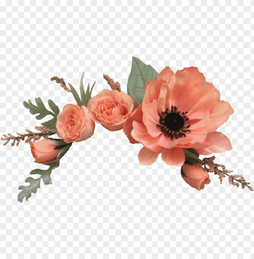Flowers Stickers Png - flowers sticker - flower crown png roses PNG image with ...