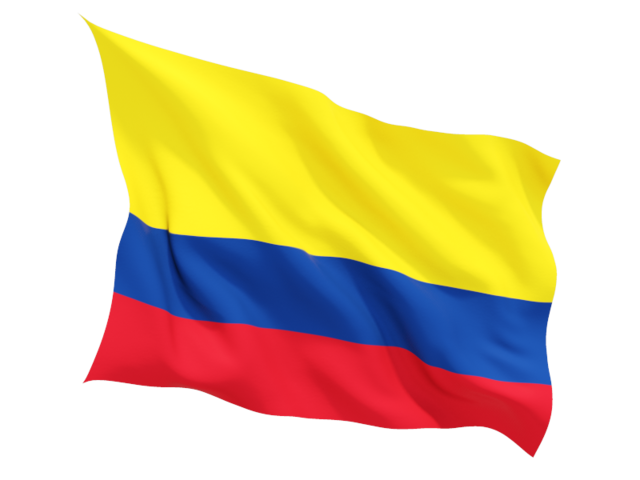 Flag Of Colombia Png - Fluttering flag. Illustration of flag of Colombia