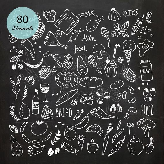 Chalkboard Drawing Png - Food Chalk Drawing Clipart/Chalkboard Menu/Restaurant | PNGio