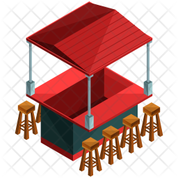 Food Stand Png - Food stand Icon of Isometric style - Available in SVG, PNG, EPS ...