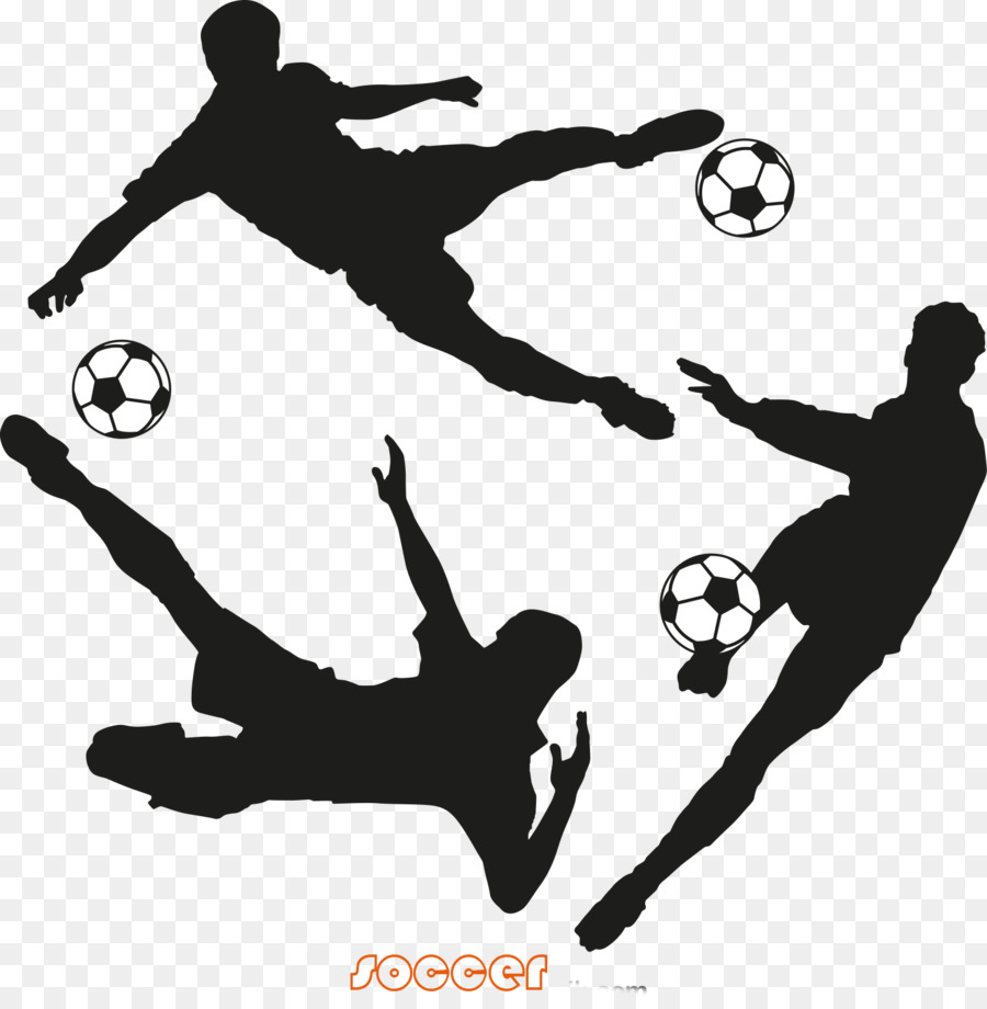 Football Logo Png - Football player Logo - 3 Football Players Silhouette png download ...