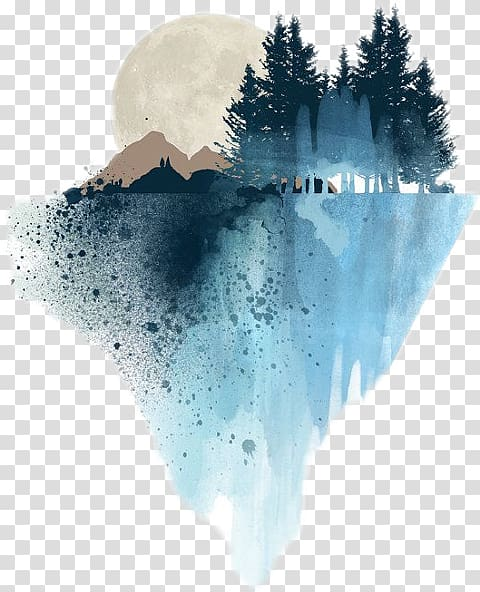 Forest Art Png - Forest painting, Watercolor painting Art Drawing Landscape ...