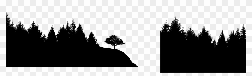 Forest Silhouette Transparent Background - Forest Silhouette Png Download - Transparent Background Forest ...