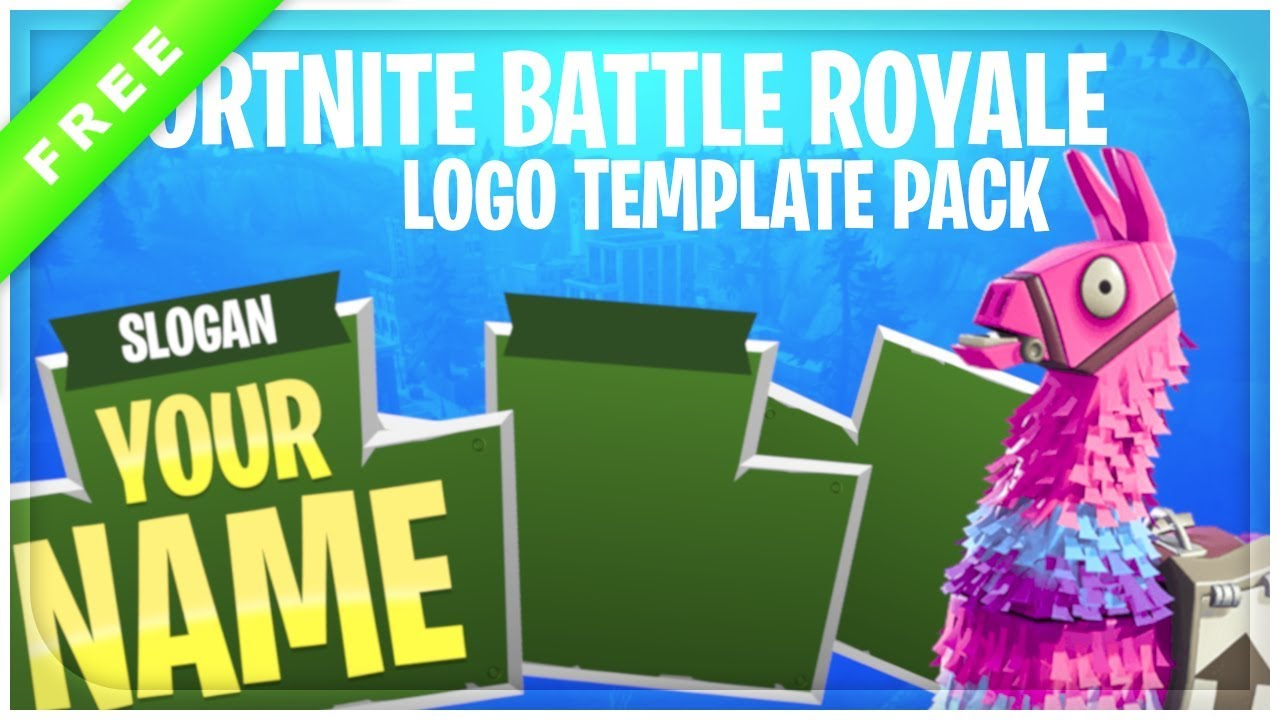 Fortnite Battle Royale Logo Template Pac 717819 Png