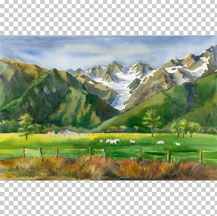 Mount Scenery Png - Fox Glacier Watercolor Painting Mount Scenery PNG, Clipart, Art ...