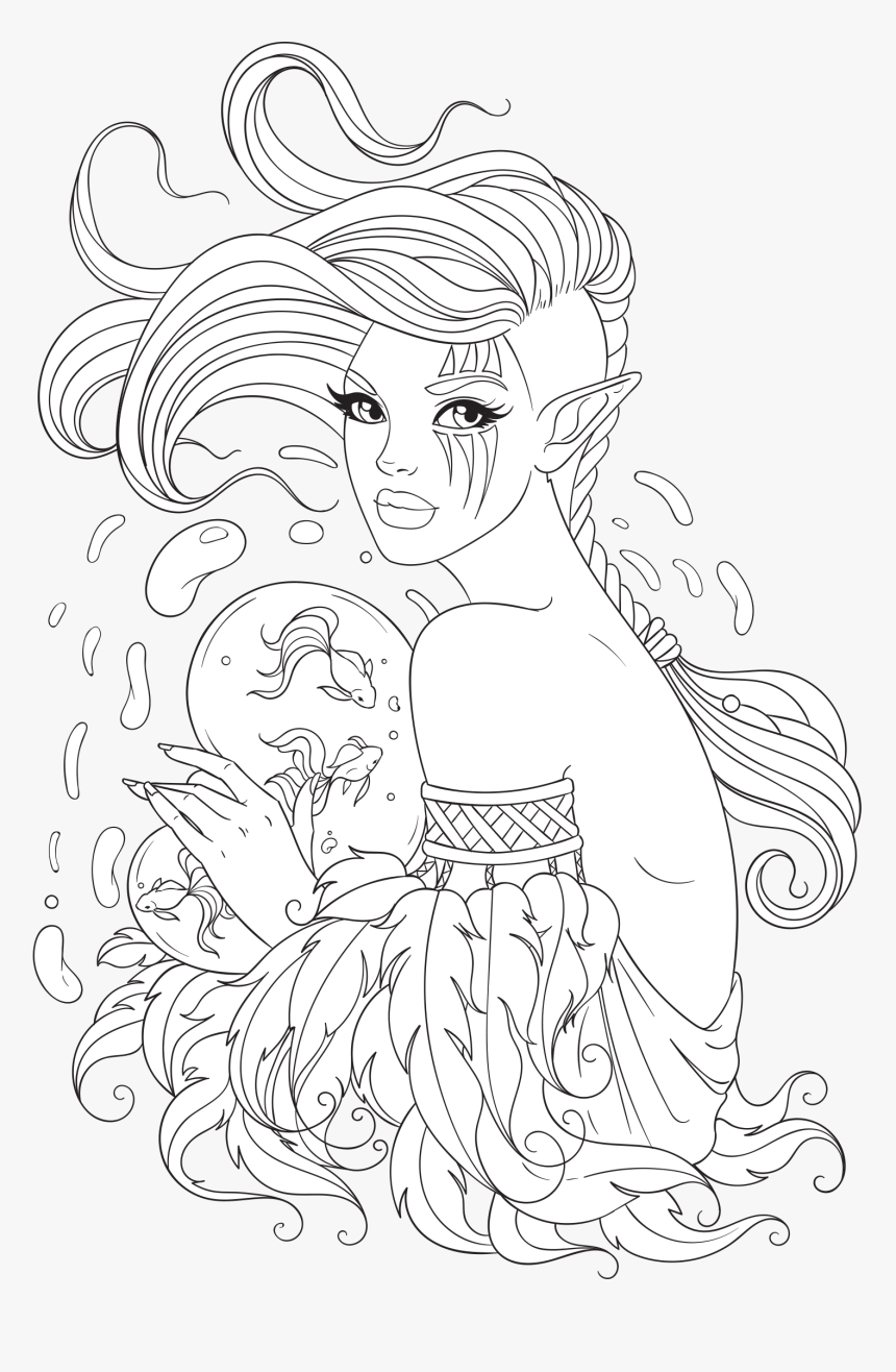 Coloring Pictures Png - Free Adult Coloring Page - Png Coloring Pages, Transparent Png ...