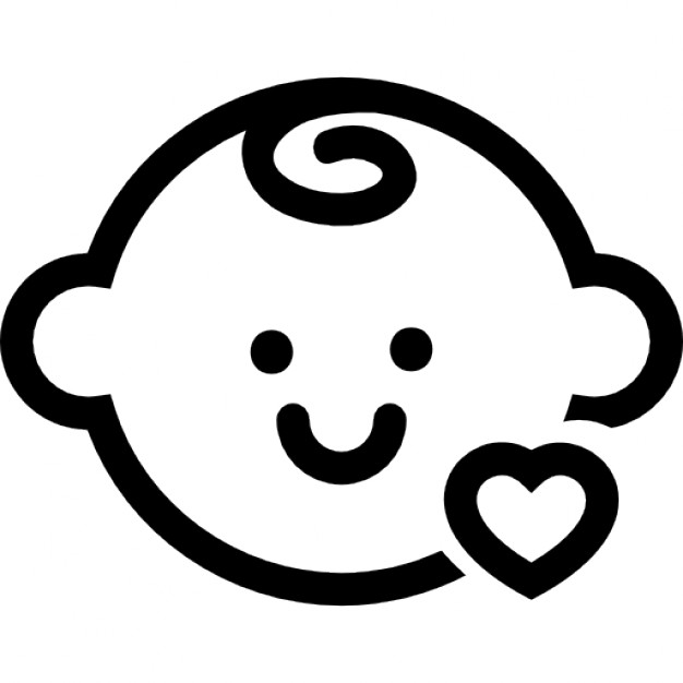Baby Face Outline Png - Free Baby Icon Png, Download Free Clip Art, Free Clip Art on ...